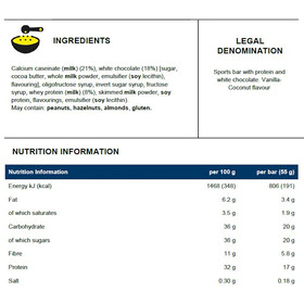 PowerBar ProteinPlus 30% Bar Kotelo 15x55g, Vanilla-Coconut